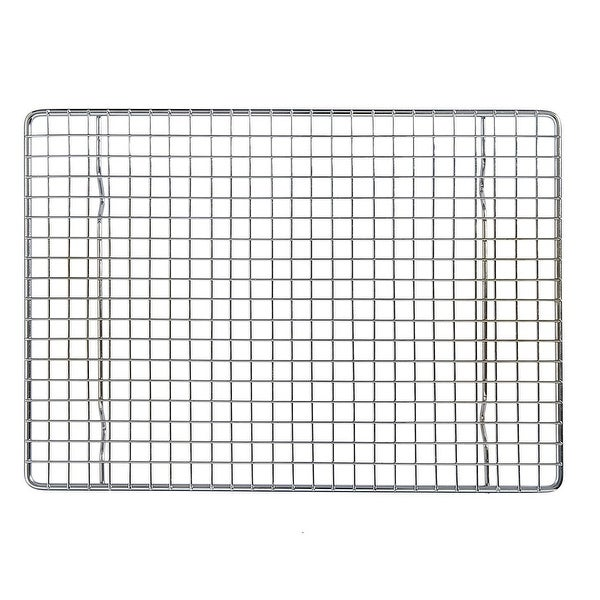 """Mrs Anderson's Baking Quarter Sheet Cooling Rack - 8.5"""" x 12"""" - Cool Cookies, Bread, Cakes - Silver. Opens flyout."""