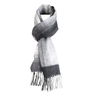 Charter Club Women's Fringed Plaid Cashmere Scarf - os