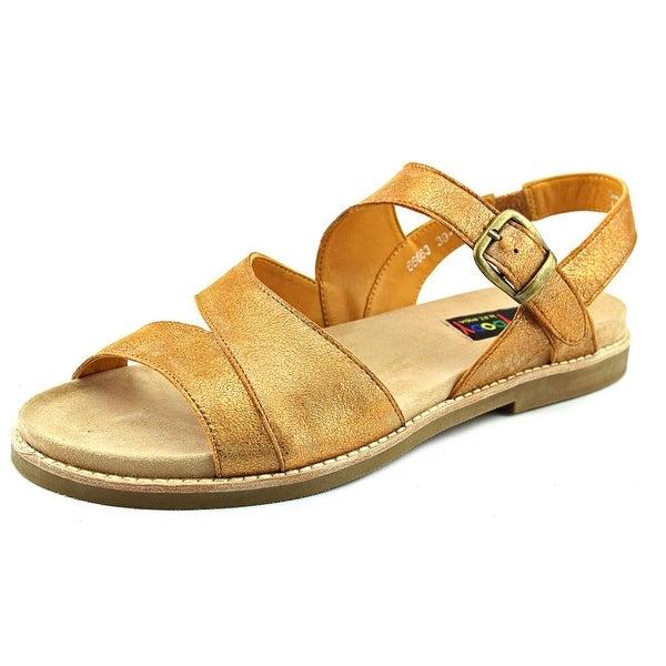 Everybody By BZ Moda Bidda Women Open-Toe Leather Tan Slingback Sandal