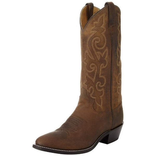 7dbf0b2c93e Shop Justin Boots Mens Cowboy, Western Boots Leather Round-Toe - 10 ...