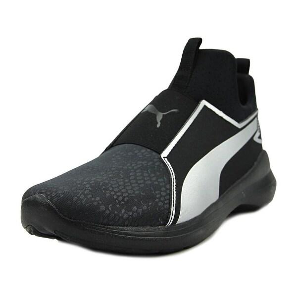 Shop Puma Rebel Mid Women Black Silver Basketball Shoes - Free ... c95c99f16