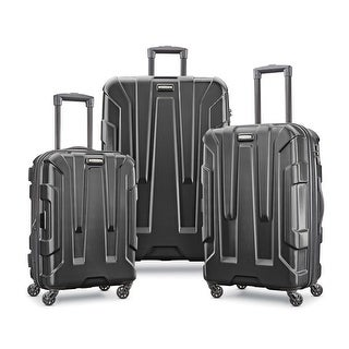 Samsonite Centric 3 Piece Expandable Hardside Spinner Luggage Set, Black