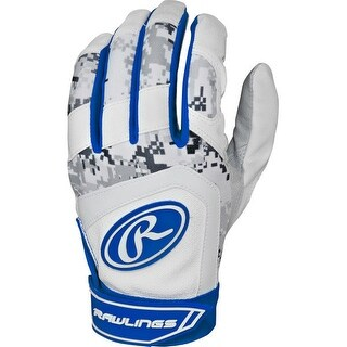 Rawlings 5150 Batting Gloves (Royal Blue/Youth Large)