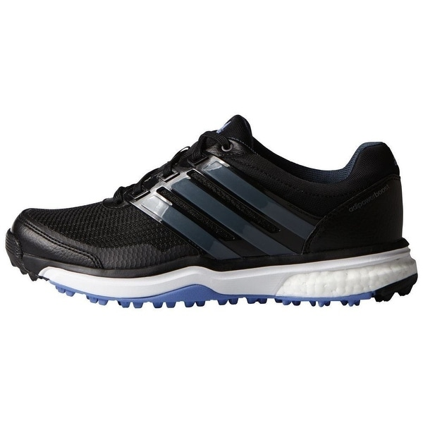 Shop Adidas Women s Adipower Sport Boost 2 Core Black Bold Onix Baja Blue  Golf Shoes F33290 - Free Shipping Today - Overstock - 18258209 a214cb70ee