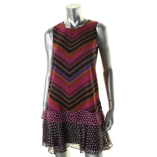 Diane Von Furstenberg Womens Liza Casual Dress Silk Printed