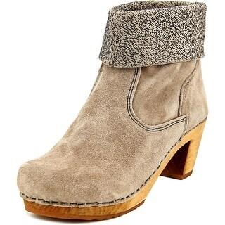 Sanita Wood-Kersti Round Toe Suede Ankle Boot