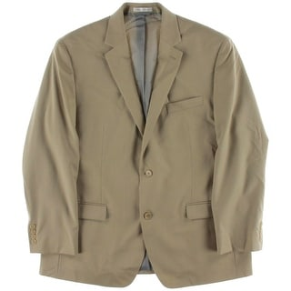 Shaquille O'Neal Mens Wool Notch Lapel Two-Button Suit Jacket