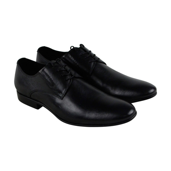 Kenneth Cole New York Mix Er Mens Black Leather Casual Dress Oxfords Shoes
