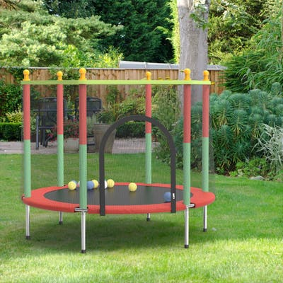 Outdoor Play Games Round Backyard Trampoline with Safety Enclosure