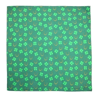 CTM® Luck of the Irish St. Patricks Day Holiday Bandana - Green - One Size