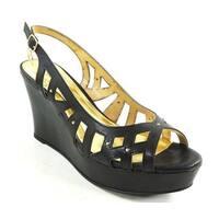 Thalia Sodi Womens Ebbiep Open Toe Special Occasion Platform, Black, Size 9.5