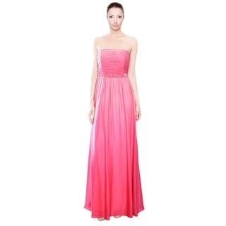 David Meister Precious Ombre Silk Strapless Evening Gown Dress