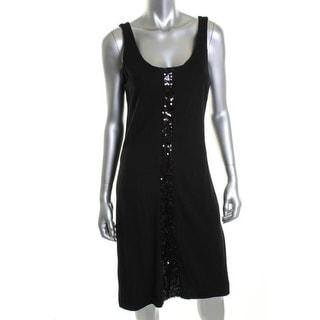 Karen Kane Womens Tracy Shea Ponte Sequined Little Black Dress - XL