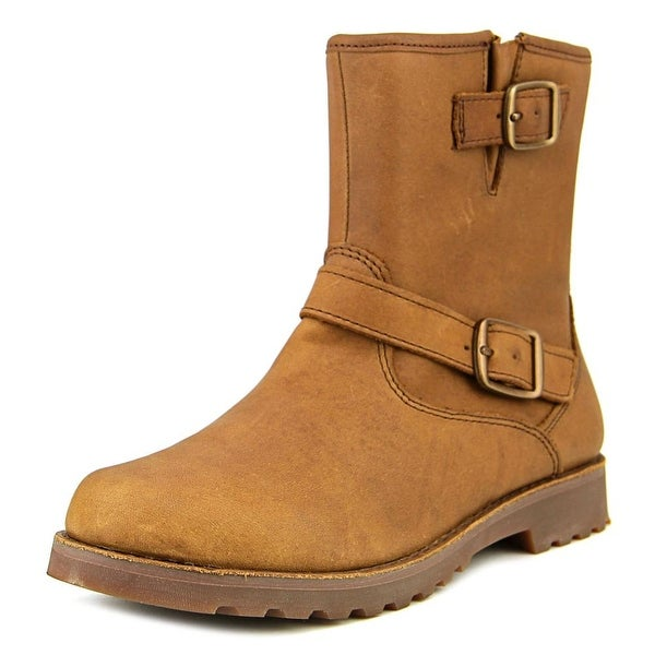 b50ee2907ad Shop Ugg Australia Harwell Youth Round Toe Leather Brown Ankle Boot ...
