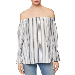 Sanctuary Womens Charlotte Casual Top Striped Long Sleeves