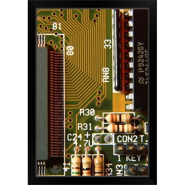 """Circuit board"" Black Framed Print"