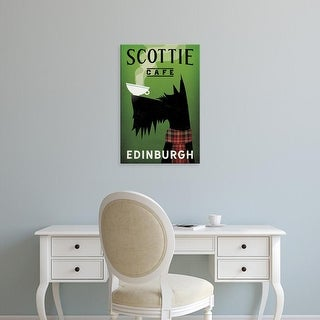 Easy Art Prints Ryan Fowler's 'Scottie Cafe' Premium Canvas Art