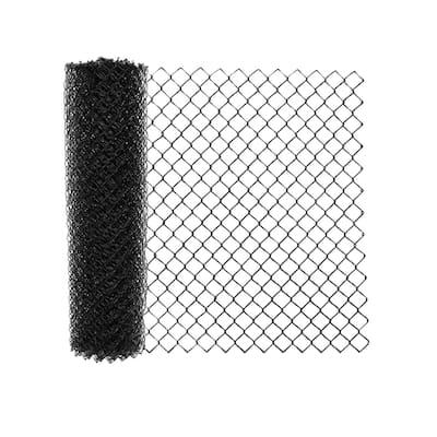 ALEKO 5X50 Feet PVC Coated Galvanized Steel Chain Link Fence Black Fabric