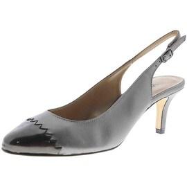 VANELi Womens Liddy Leather Pumps Slingback Heels - 7.5 medium (b,m)