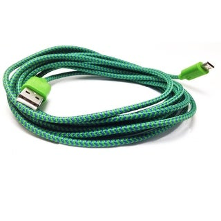 XL 9' Charging & Data Cable Iphone 5/5S 9, Green