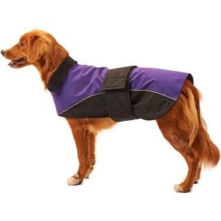 Purple Medium - Dog Waterproof Reflective Coat