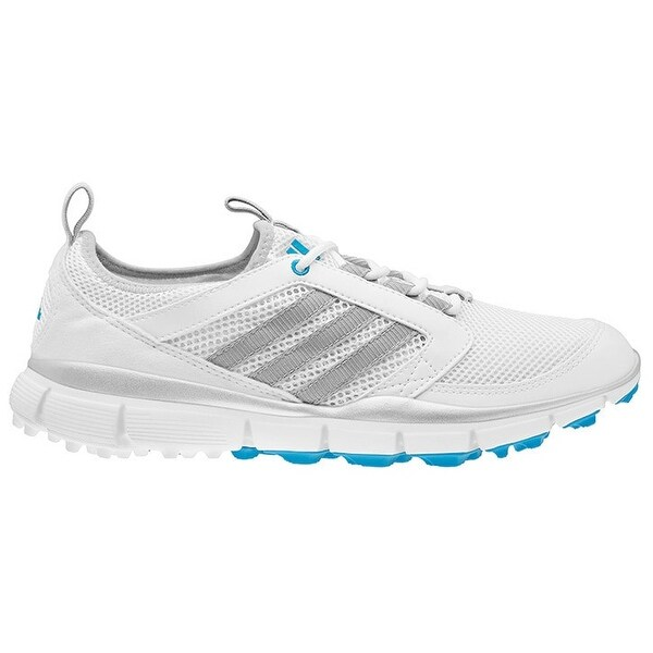 ... Women's Golf Shoes. Adidas Women's Adistar Climacool Running White/Metallic  Silver/Solar Blue