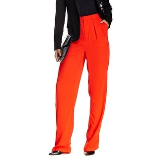 Valette NEW Red Women's Size 0X33 Loose Fit Front Tab Dress Pants