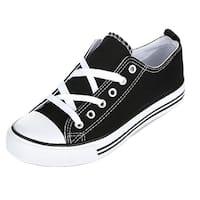 Kids Canvas Shoe Solid Color Low Top Lace Up Fashion Sneaker