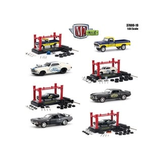 Model Kit 4 pieces Set Release 19 1/64 Diecast Model Cars by M2 Machines