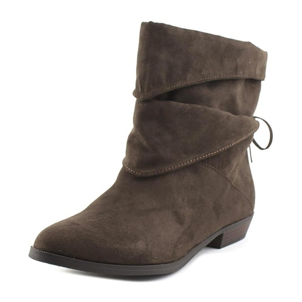 Indigo Rd. Jemma Women Pointed Toe Synthetic Brown Ankle Boot