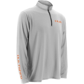Huk Men's Icon 1/4 Zip White Large Long Sleeve Shirt