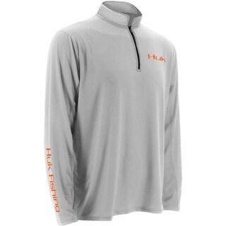 Huk Men's Icon 1/4 Zip White XX-Large Long Sleeve Shirt