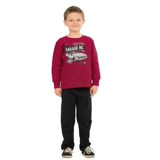 Pulla Bulla Little Boy Graphic Sweatshirt and Sweatpants Outfit