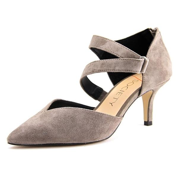Sole Society Krissa Women Pointed Toe Suede Gray Heels