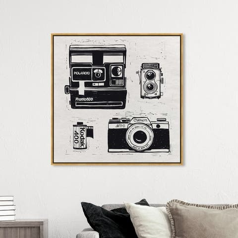 Oliver Gal 'Considering Photography' Black Wall Art Canvas