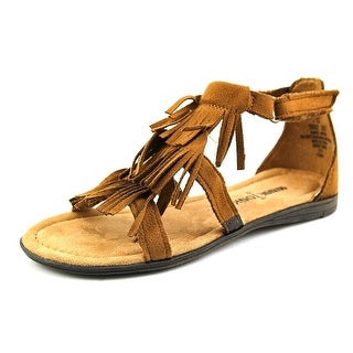 Minnetonka Maya Youth Open Toe Synthetic Brown Gladiator Sandal
