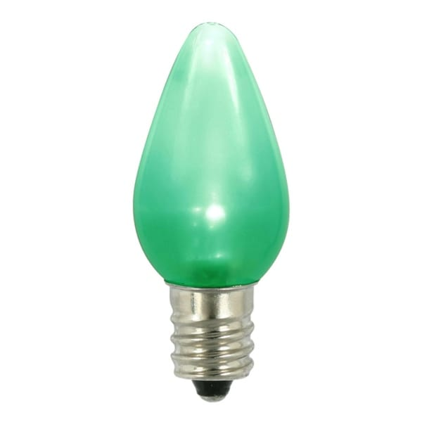 Club Pack of 25 Green LED C7 Satin Christmas Replacement Bulbs