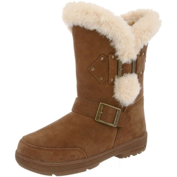 Bearpaw Boots Women Madeline Sheepskin Buckle Rivet