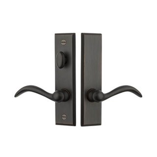 Baldwin SD015.PRIV Cody Privacy Screen Door Mortise Lever Set from the Estate Se