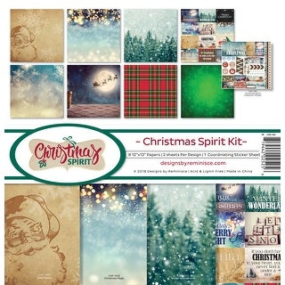 "Reminisce Collection Kit 12""X12""-Christmas Spirit"
