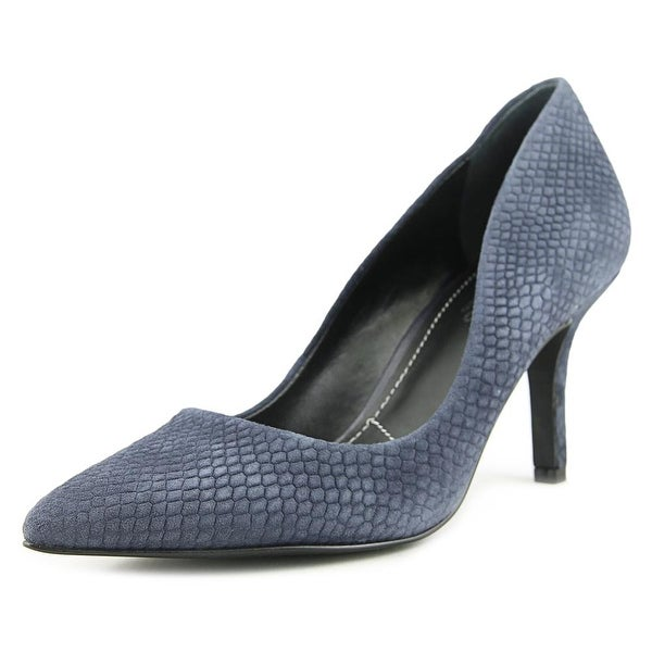 Charles By Charles David Sasha Women Pointed Toe Leather Blue Heels