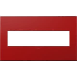 Legrand AWP4GCH4 adorne 4 Gang Plastic Wall Plate - 6.56 Inches Wide