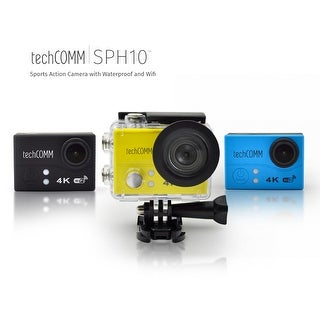 TechComm SPH10 Ultra 4K 30fps Action Sports 16MP Camera with Sony IMX214 Sensor, 30M Waterproof Case and Remote Control (Option: Blue)