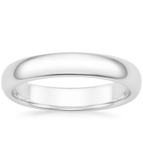 Mcs Jewelry Inc 14 KARAT WHITE GOLD COMFORT FIT WEDDING BAND (4MM)