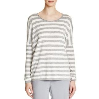 DKNY Womens Pullover Sweater Knit Striped