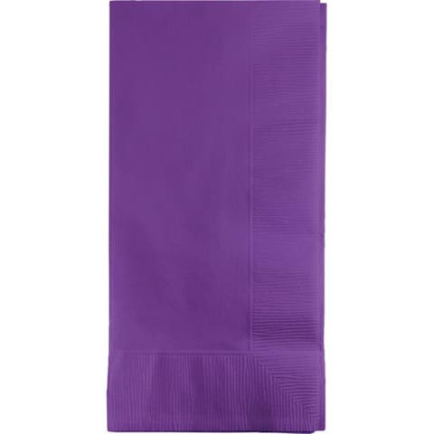 """Club Pack of 600 Amethyst Purple Premium 2-Ply Disposable Dinner Napkins 8"""" - N/A"""