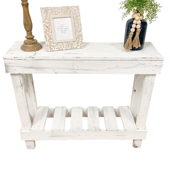 Handmade Del Hutson Designs Barnwood Sofa Table. Opens flyout.