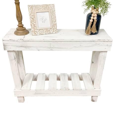 Handmade Del Hutson Designs Barnwood Sofa Table