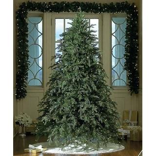 7.5u0027 Pre-Lit Downswept Hunter Fir Full Artificial Christmas Tree - Warm  Clear LED