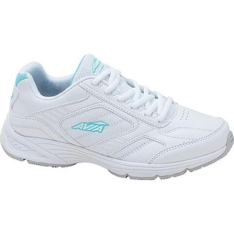 Avia Women's Avi-Ginger Walking Shoe White/Cool Mist Grey/Aruba Aqua